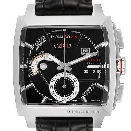 Photo of Tag Heuer Monaco Black Dial Automatic Chronograph Mens Watch CAL2110