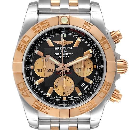 Photo of Breitling Chronomat Evolution Steel Rose Gold Mens Watch CB0110 Unworn