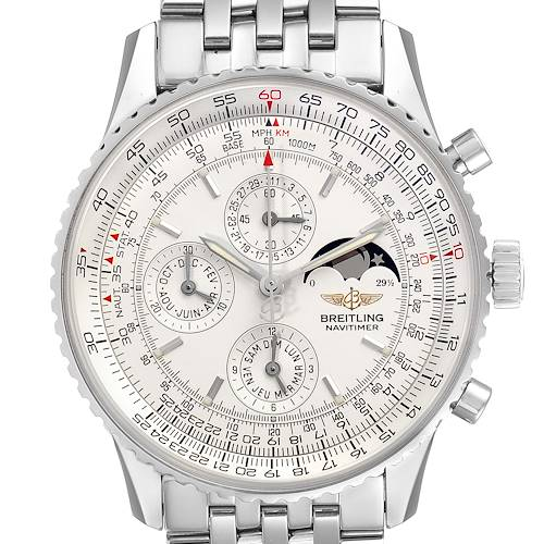 Photo of Breitling Navitimer Montbrillant Olympus Moonphase Mens Watch A19340