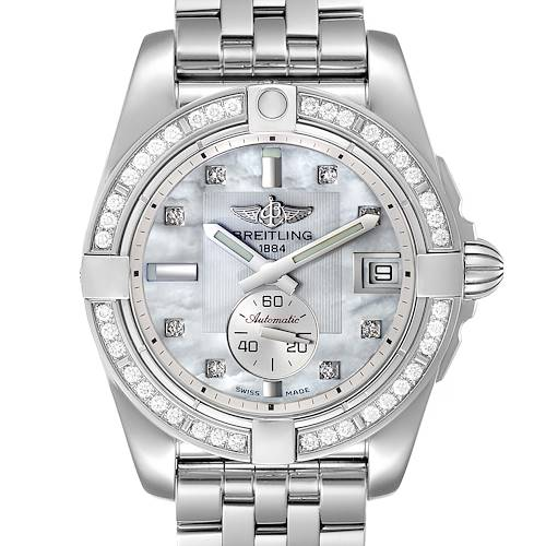 Photo of Breitling Galactic 36 MOP Diamond Steel Ladies Watch A37330 Unworn