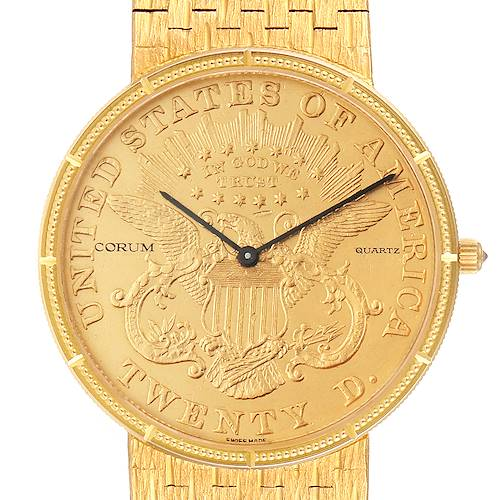 Photo of Corum 20 Dollars Double Eagle Yellow Gold Coin Mens Watch 1875