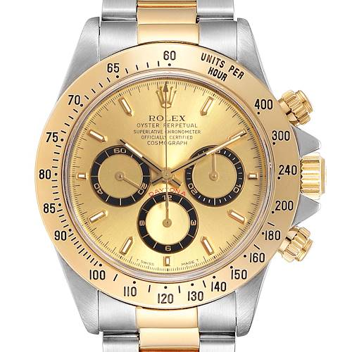 Photo of Rolex Daytona Steel Yellow Gold Mens Watch 16523 Box