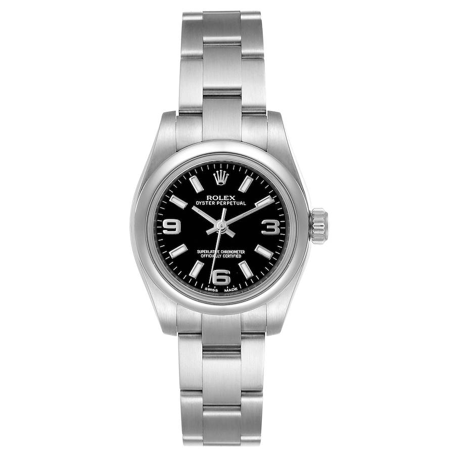 Rolex Oyster Perpetual Nondate Oyster Bracelet Ladies Watch 176200 Box Card SwissWatchExpo