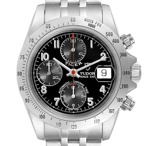 Photo of Tudor Prince Black Dial Chronograph Steel Mens Watch 79280