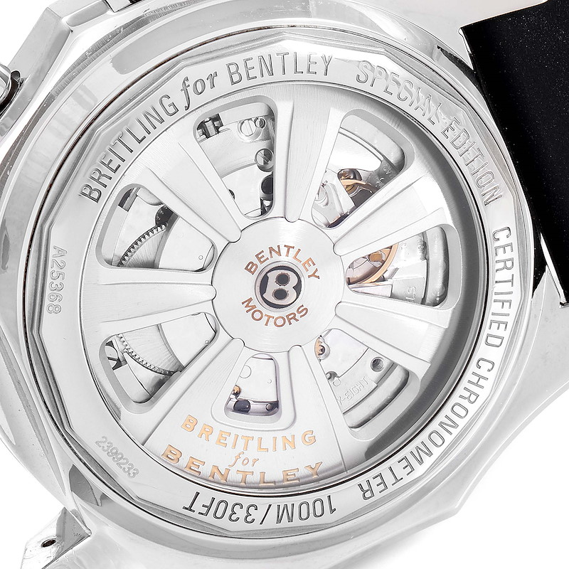 Breitling Bentley Barnato 49mm Black Red Dial Steel Mens Watch A25368 SwissWatchExpo