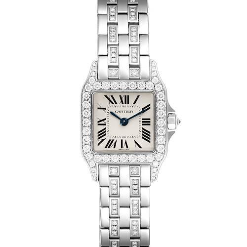 Photo of Cartier Santos Demoiselle White Gold Diamond Ladies Watch WF9003YC