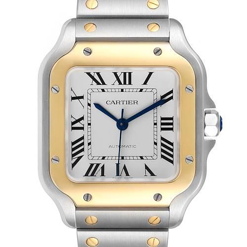 Photo of Cartier Santos Galbee Medium Steel Yellow Gold Watch W2SA0007 Unworn