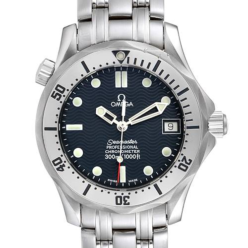 Photo of Omega Seamaster Midsize 36 Blue Dial Steel Mens Watch 2552.80.00 Card