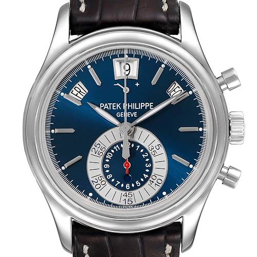 Photo of Patek Philippe Complications Annual Calendar Platinum Watch 5960 Box Papers