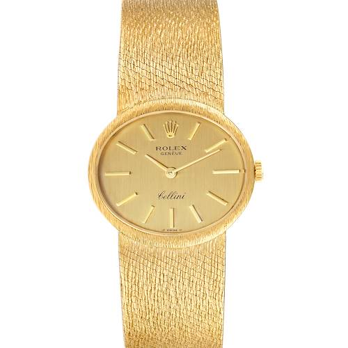 Rolex Cellini 18k Yellow Gold Champagne Dial Vintage Cocktail Ladies Watch