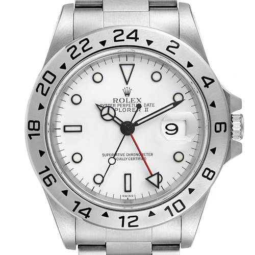 Photo of Rolex Explorer II White Dial Automatic Steel Mens Watch 16570 Box Papers