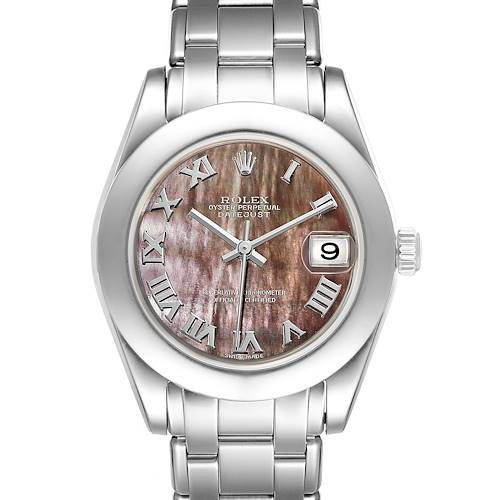 Photo of Rolex Pearlmaster 34mm Midsize White Gold MOP Ladies Watch 81209 Box Papers