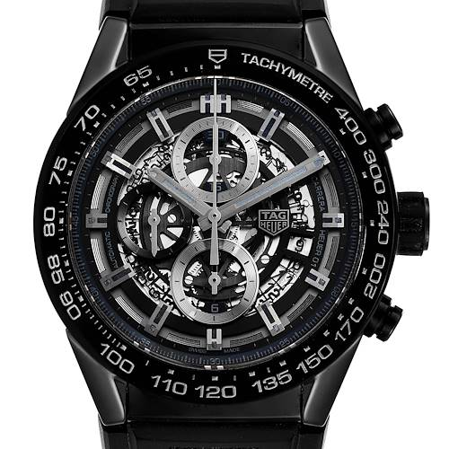 Photo of Tag Heuer Carrera Black Ceramic Chronograph Mens Watch CAR2A90