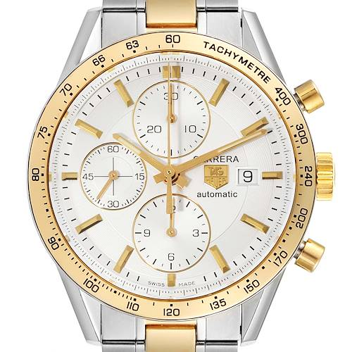 Photo of Tag Heuer Carrera Steel Yellow Gold Chronograph Mens Watch CV2050