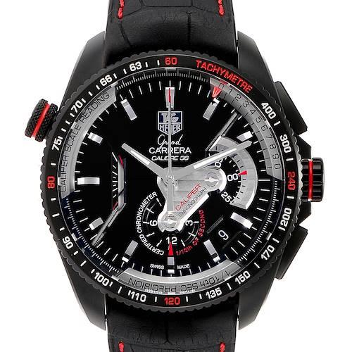 Photo of Tag Heuer Grand Carrera RS Caliper PVD Titanium Watch CAV5185 Unworn