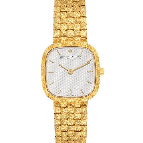 Photo of Vacheron Constantin 18K Yellow Gold Silver Dial Cocktail Ladies Watch