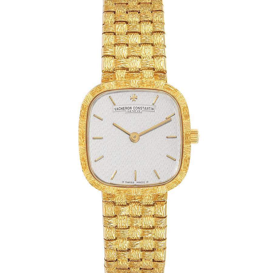 Vacheron Constantin 18K Yellow Gold Silver Dial Cocktail Ladies Watch SwissWatchExpo