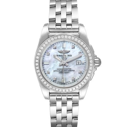 Photo of Breitling Galactic 29 MOP Diamond Steel Ladies Watch A72348 Unworn