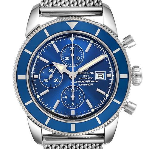 Photo of Breitling SuperOcean Heritage Chronograph 46 Watch A13320 Box Papers Strap