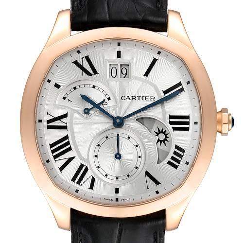 Photo of Cartier Drive Retrograde Rose Gold Chronograph Mens Watch WGNM0005