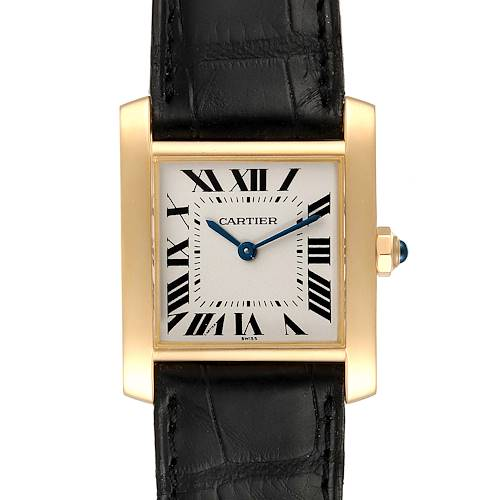 Photo of Cartier Tank Francaise Midsize Yellow Gold Ladies Watch W5000356