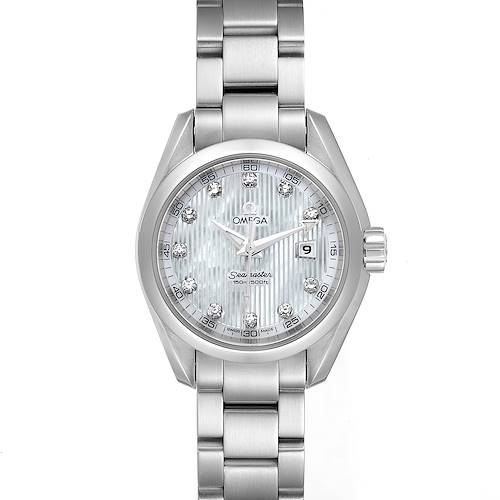 Photo of Omega Aqua Terra Steel MOP Diamond Ladies Watch 231.10.30.61.55.001 Unworn