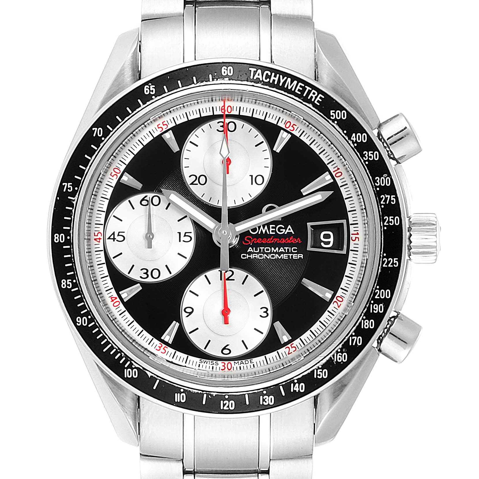 Omega Speedmaster Date 40 Black Dial Mens Watch 3210.51.00 Card SwissWatchExpo
