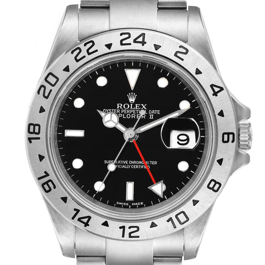 Rolex Explorer II Black Dial Parachrom Hairsprin Mens Watch 16570 Box Card SwissWatchExpo