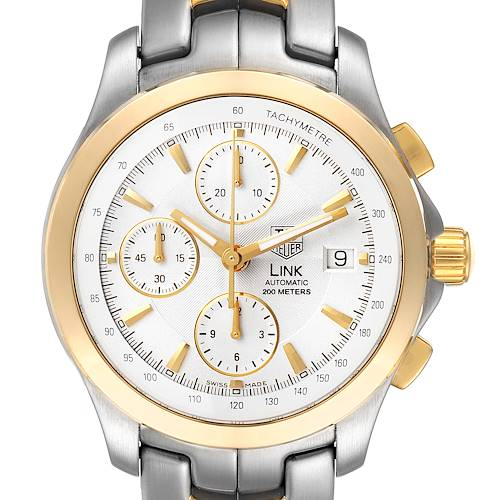 Photo of Tag Heuer Link Steel Yellow Gold Chronograph Mens Watch CJF2150