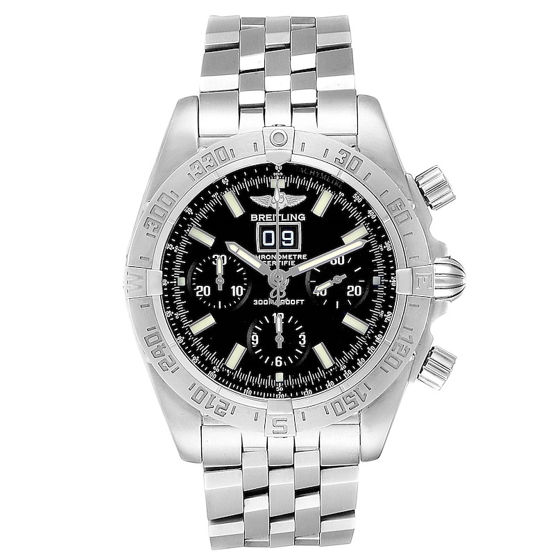 Breitling Chronomat Blackbird Chronograph Steel Mens Watch A44359 SwissWatchExpo