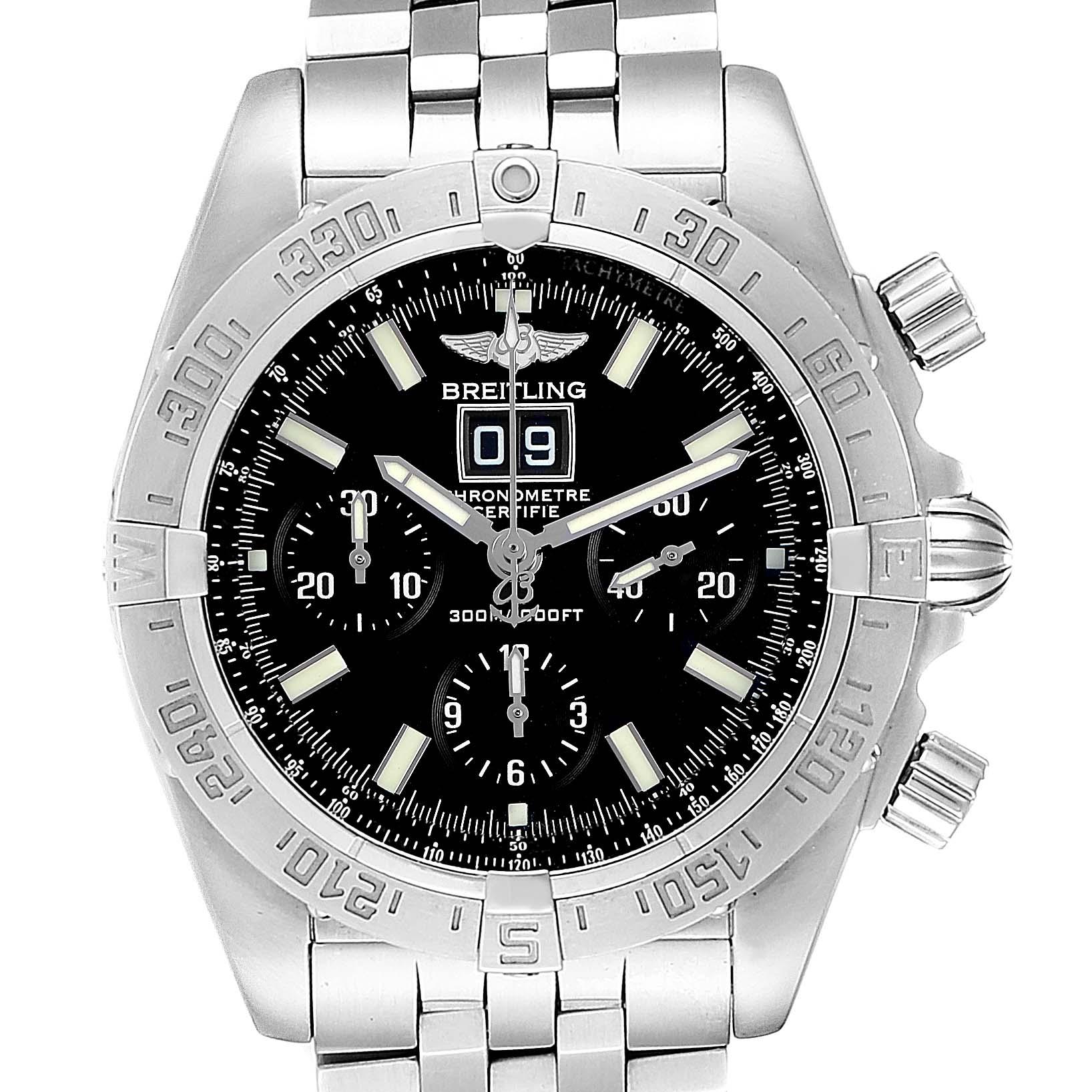 Breitling Chronomat Blackbird Chronograph Steel Mens Watch A44359