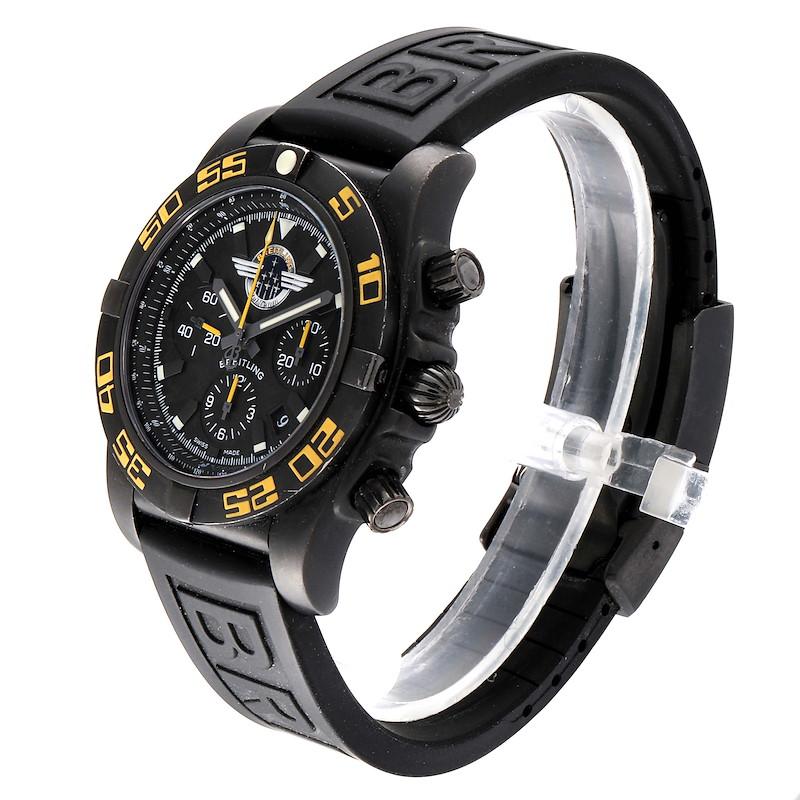 Breitling Chronomat Jet Team American Blacksteel LE Watch MB0110 Box Card SwissWatchExpo