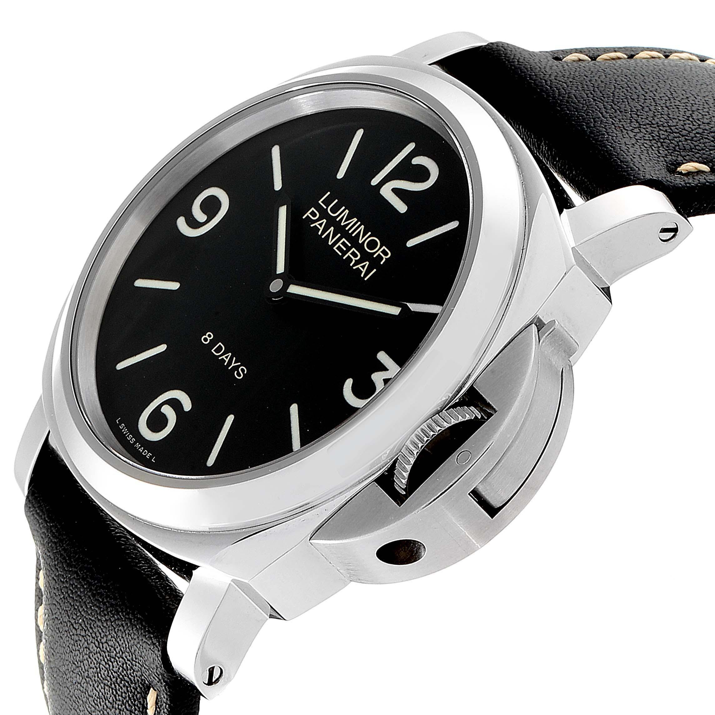 Panerai Luminor Base 8 Days Acciaio 44mm Watch PAM560 PAM00560 SwissWatchExpo