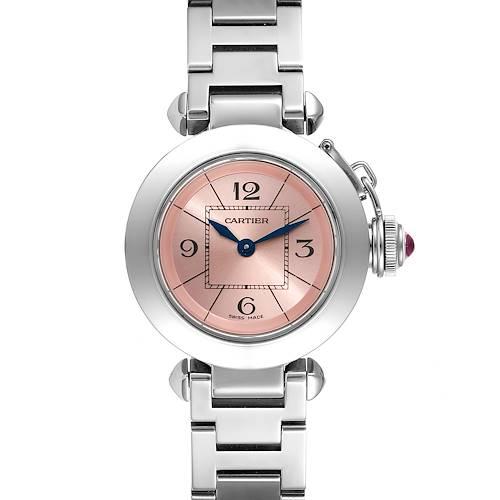 Photo of Cartier Miss Pasha Steel Pink Dial Quartz Ladies Watch W3140008