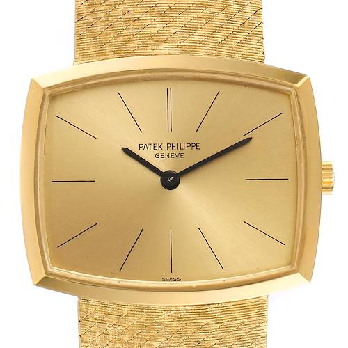 Photo of Patek Philippe Gondolo Yellow Gold Champagne Dial Vintage Mens Watch 3528