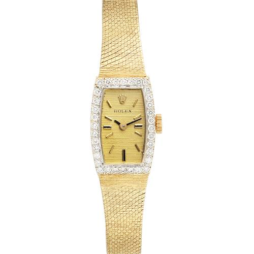 Photo of Rolex 14k Yellow Gold Diamond Vintage Cocktail Ladies Watch 8420