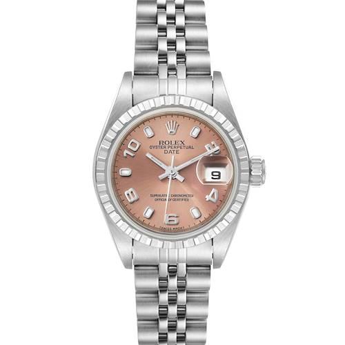 Photo of Rolex Date Salmon Dial Jubilee Bracelet Ladies Watch 79240