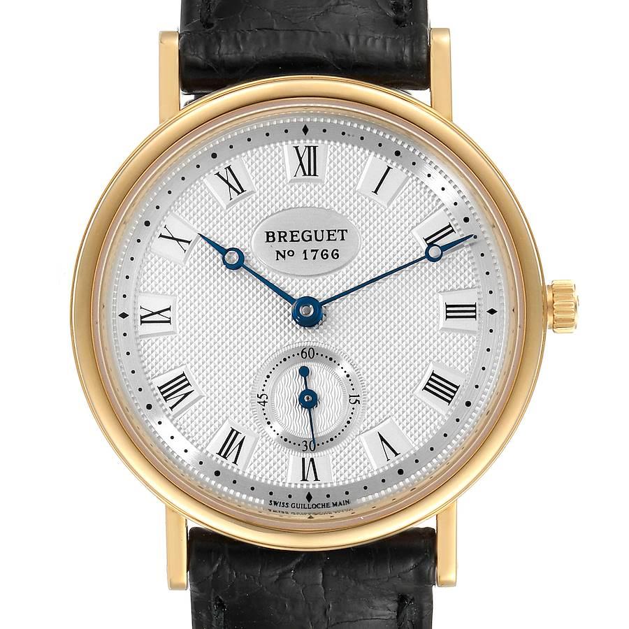 Breguet Classique 18K Yellow Gold Silver Dial Mens Watch 3910BA SwissWatchExpo