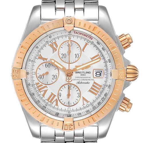 Photo of Breitling Chronomat Evolution Steel Rose Gold Mens Watch C13356 Papers