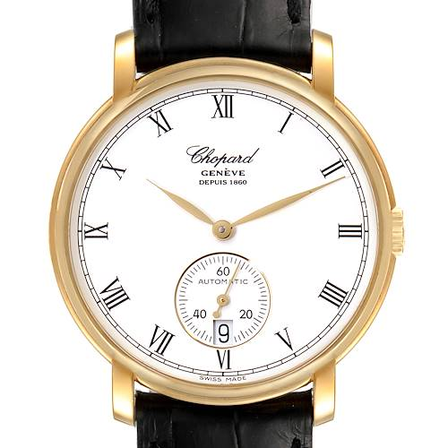 Photo of Chopard Classique Yellow Gold White Dial Mens Watch 1223 Box Papers