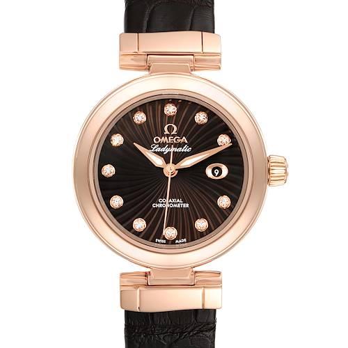 Photo of Omega DeVille Ladymatic Rose Gold Diamond Ladies Watch 425.63.34.20.63.001