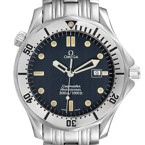 Photo of Omega Seamaster 300m Blue Wave Dial 41mm Mens Watch 2542.80.00