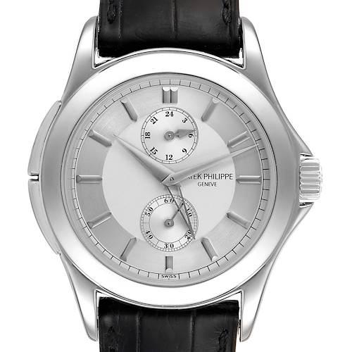 Photo of Patek Philippe Calatrava Travel Time Platinum Mens Watch 5134