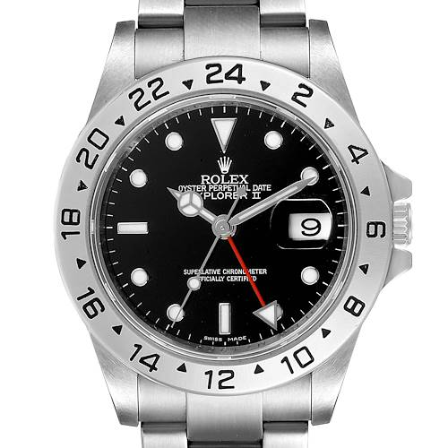 Photo of Rolex Explorer II Black Dial Parachrom Hairspring Mens Watch 16570