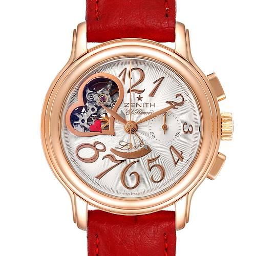 Photo of Zenith El Primero Open Heart Rose Gold Chronograph Watch 18.1230.4021