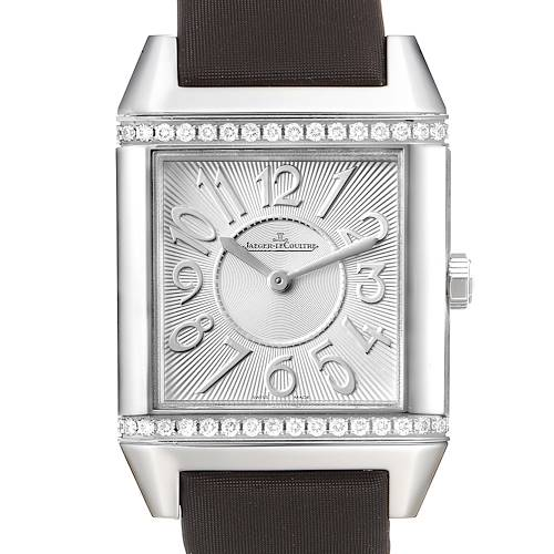 Photo of Jaeger LeCoultre Reverso Silver Diamond Dial Ladies Watch 234.8.47 Q7038420