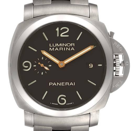 Photo of Panerai Luminor Marina 1950 3 Days Titanium 44mm Watch PAM00352 Box Papers