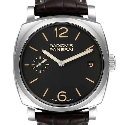 Photo of Panerai Radiomir 1940 Black Dial 3 Days 47mm Steel Watch PAM00514 Box Papers