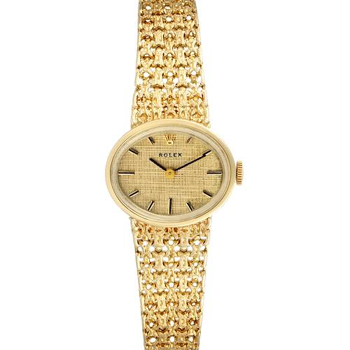 Photo of Rolex 14k Yellow Gold Champagne Dial Vintage Cocktail Ladies Watch