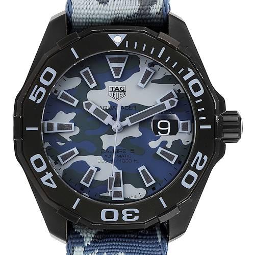 Photo of Tag Heuer Aquaracer Calibre 5 Black PVD Titanium Mens Watch WAY208D